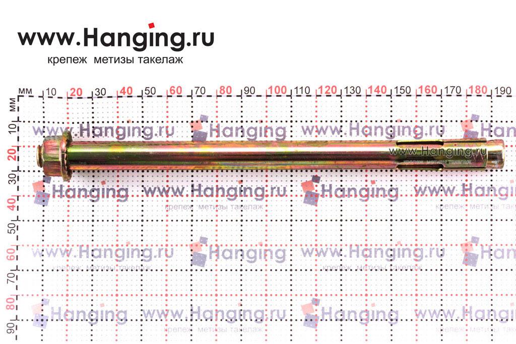 Размер анкерного болта с гайкой М10/12х180, Letfix