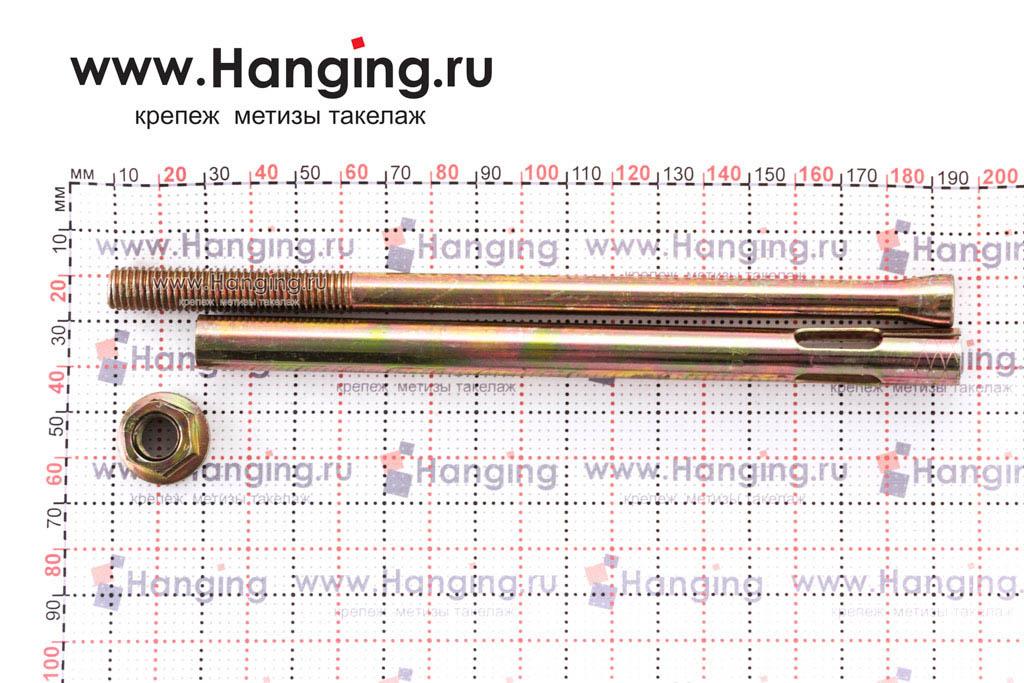 Разобранный анкерный болт с гайкой М10/12х180, Letfix