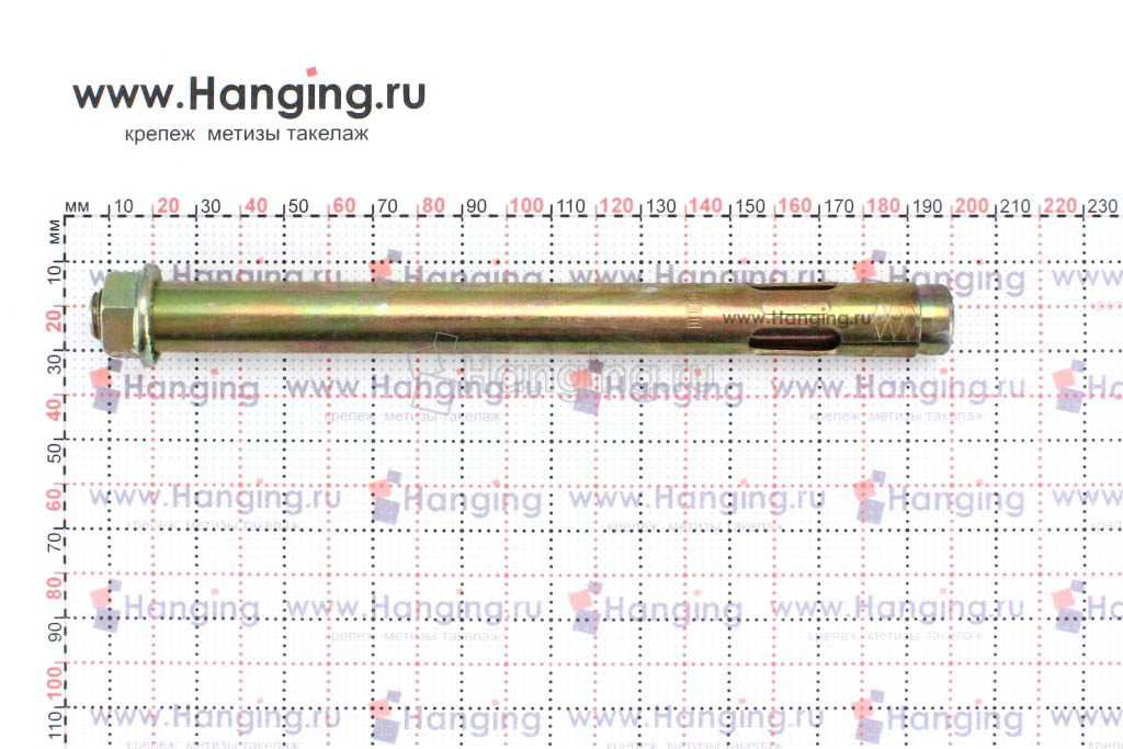 Составные части анкерного болта с гайкой М12/16*180