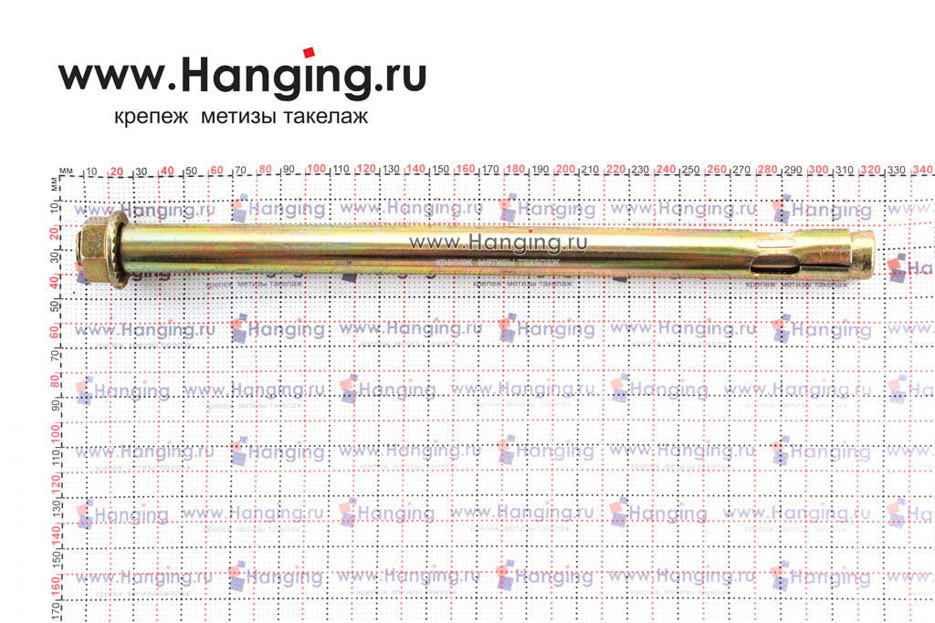 Размеры анкерного болта с гайкой М16/20х300, Letfix