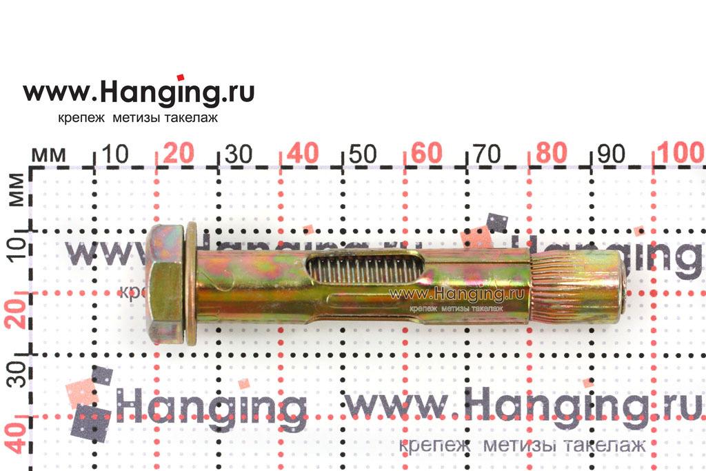 Размеры распорного анкера болта М10/12х70 Letfix