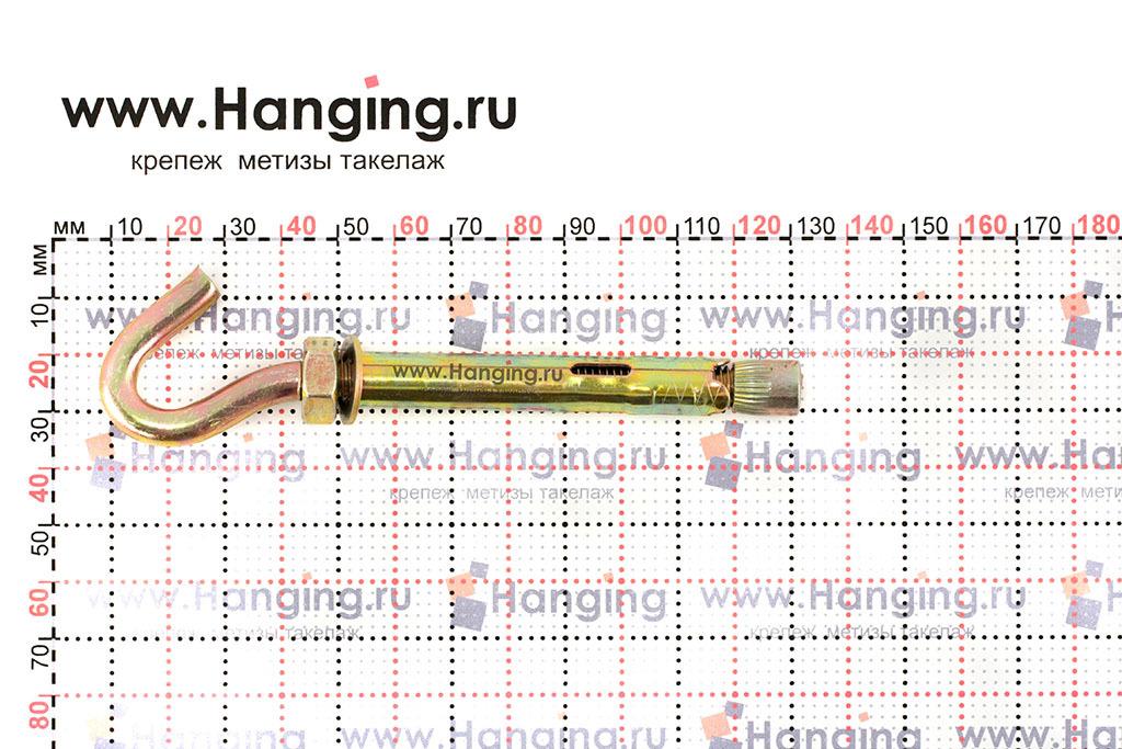 Размеры анкерного болта с крюком М8/10х60