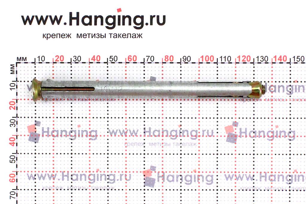 Размеры дюбеля рамного стального 10*112