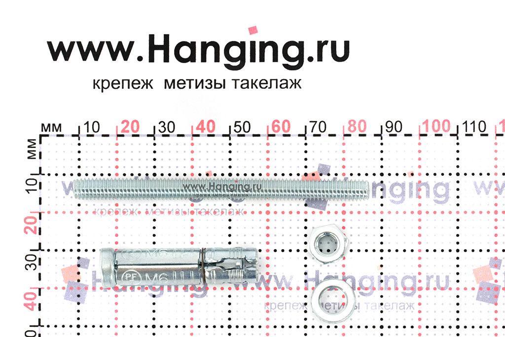 Составные части анкера Сормат SB М6/30