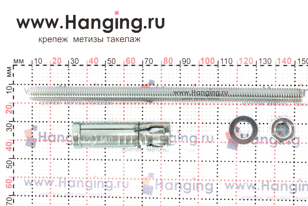 Составные части анкера Сормат SB М8/85