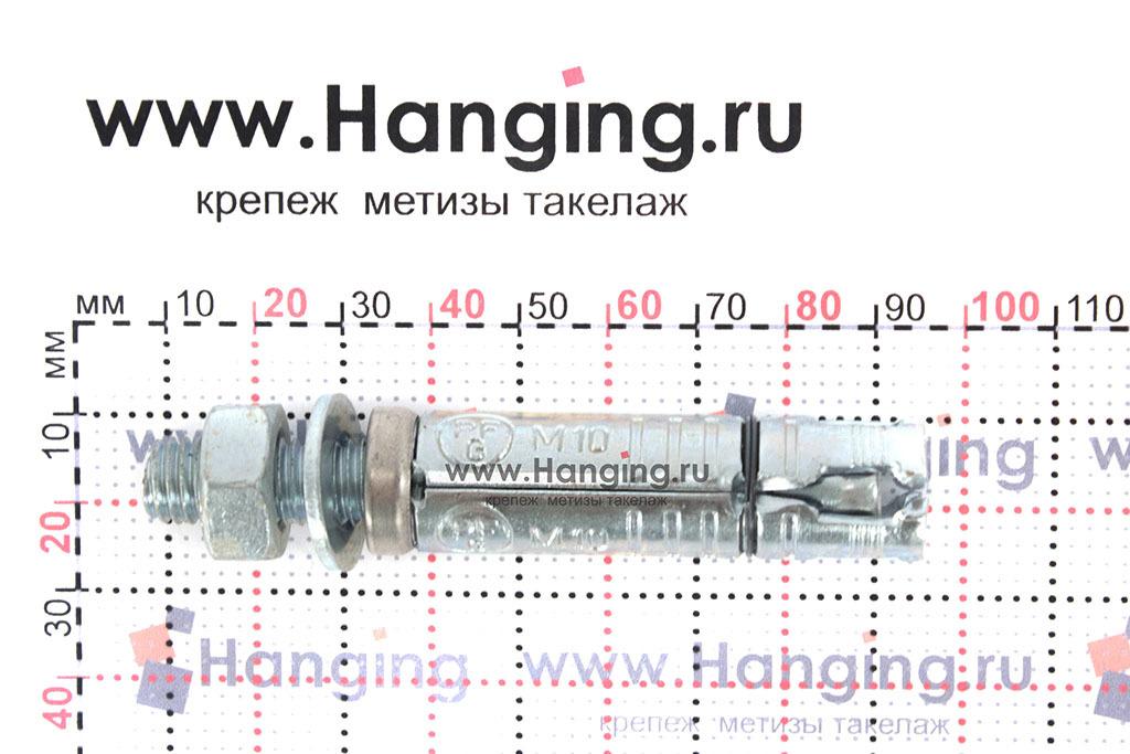 Размеры анкерной гильзы и шпильки Sormat SB М10/10 М10х84