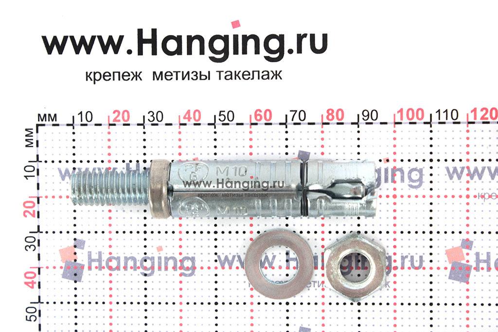 Распорный сегмент анкерной гильзы со шпилькой М10х84 SB Sormat