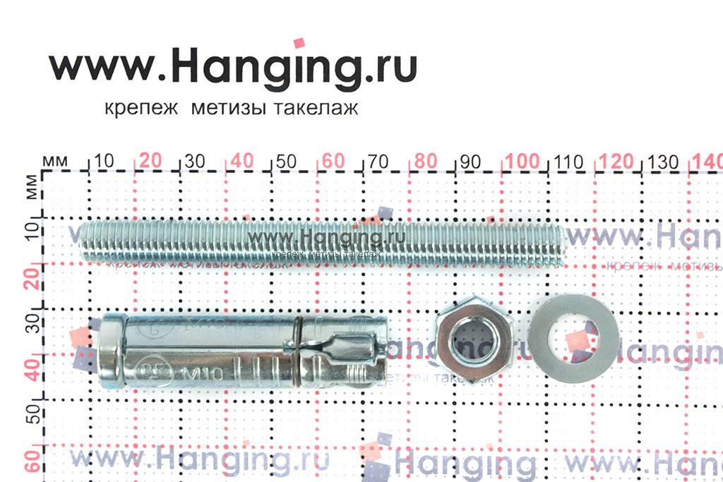 Распорный сегмент анкерной гильзы со шпилькой М10х104 SB Sormat