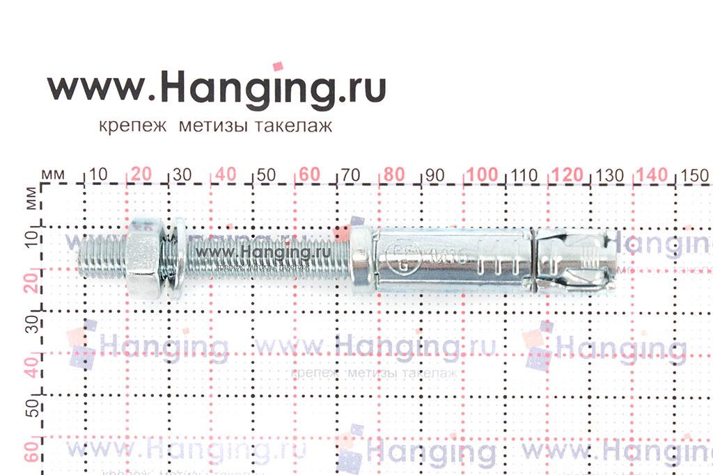 Размеры анкерной гильзы и шпильки Sormat SB М10/50 М10х124