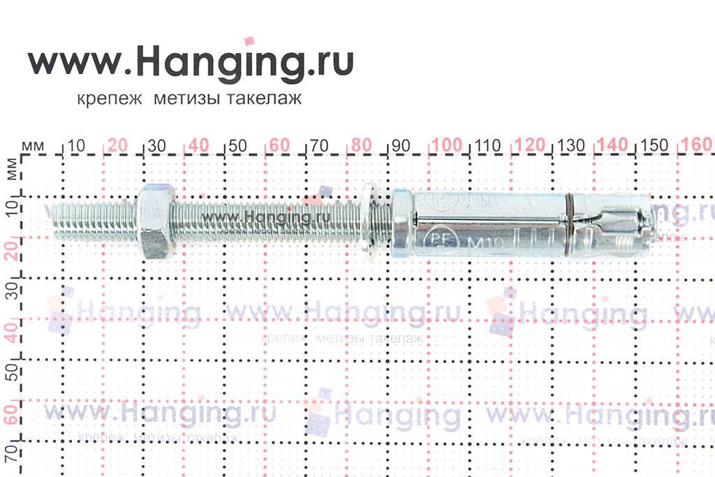 Размеры анкерной гильзы и шпильки Sormat SB М10/70 М10х144