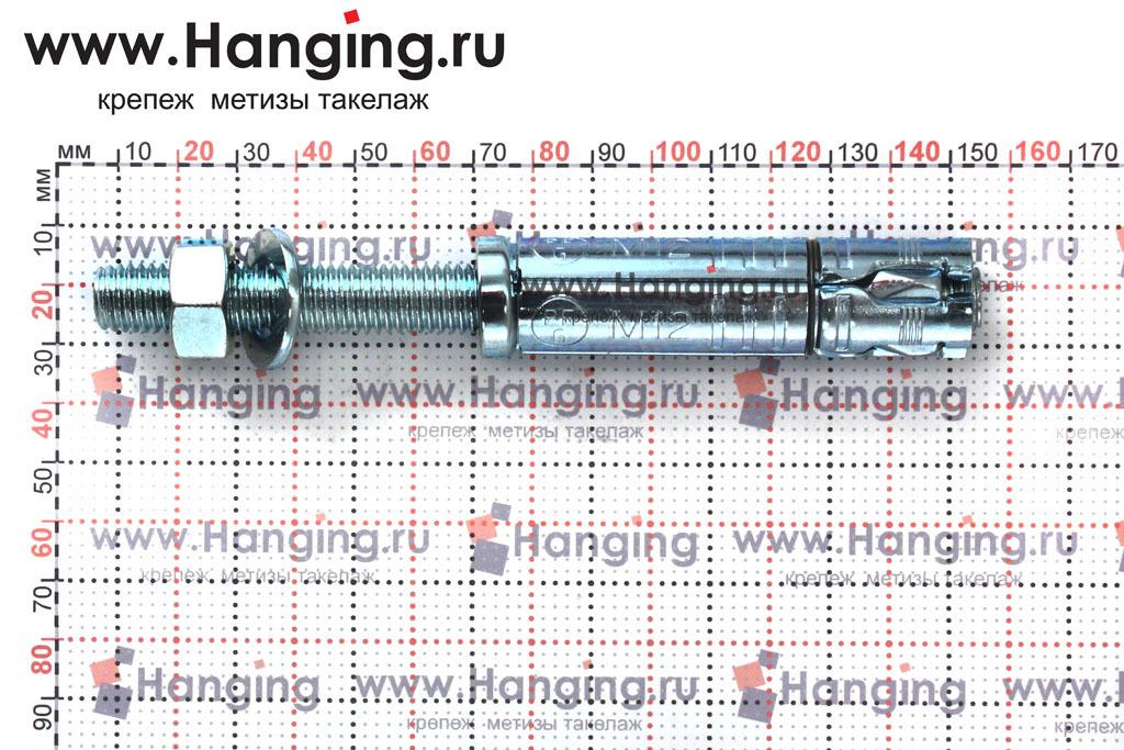 Размеры анкерной гильзы и шпильки Sormat SB М12/50 М12х145