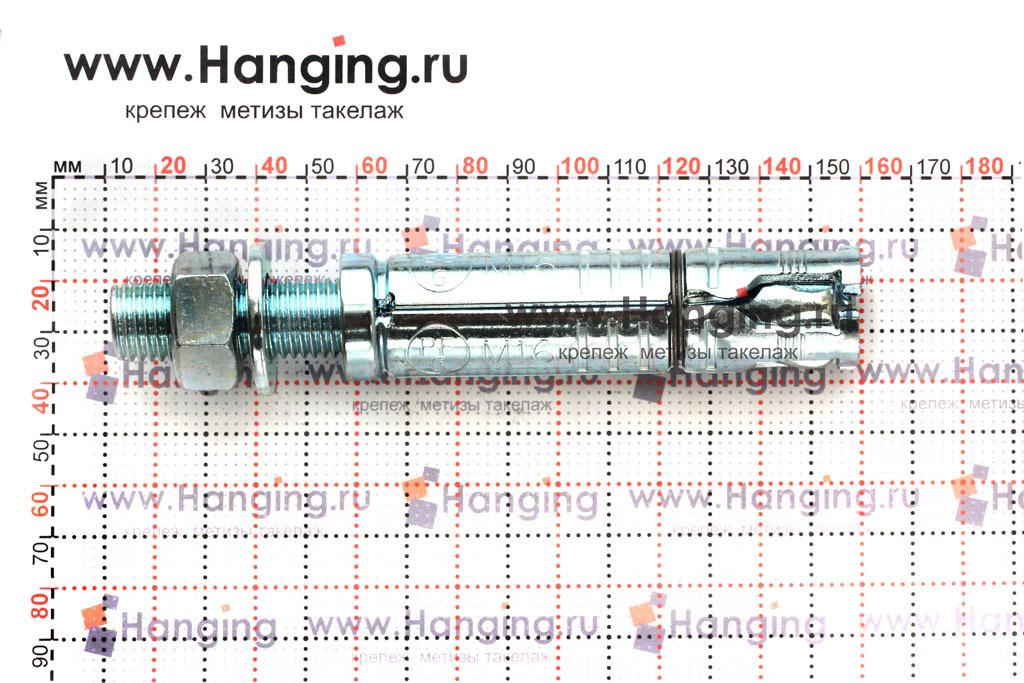 Размеры анкерной гильзы и шпильки Sormat SB М16/25 М16х145