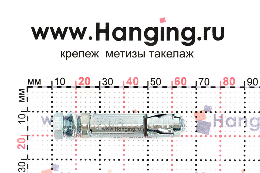 Размеры анкерной гильзы Сормат LB М6*60/15