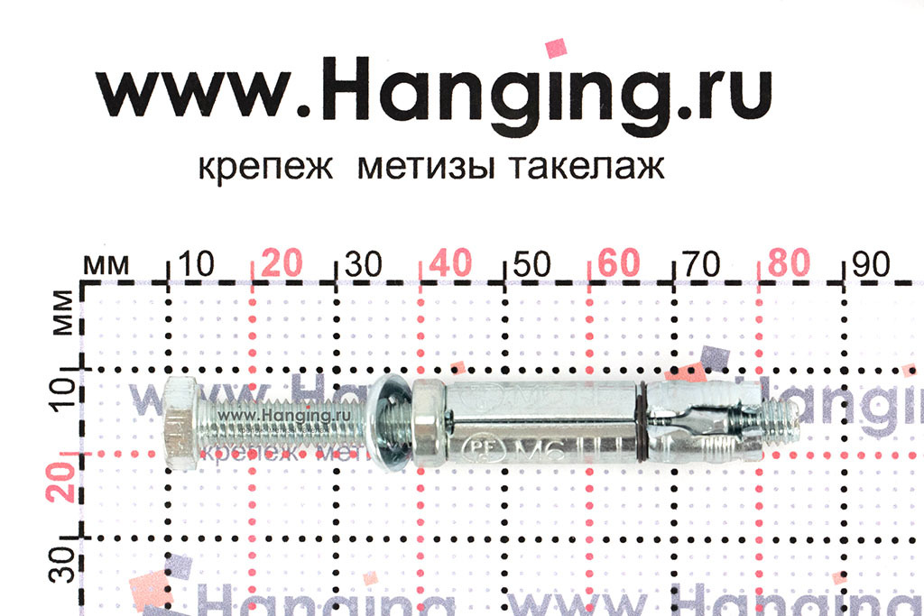 Размеры анкерной гильзы Сормат LB М6*80/35