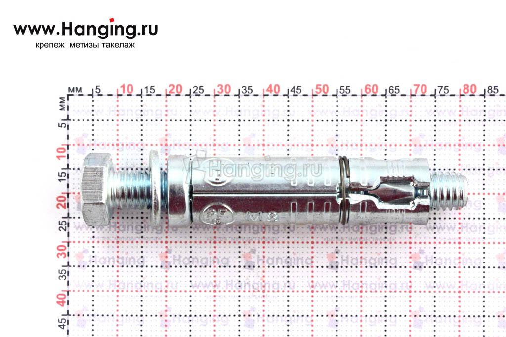 Размеры анкерной гильзы Сормат LB М8*83/25