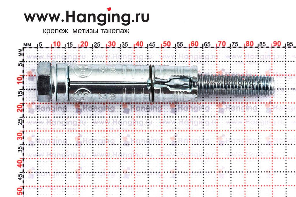 Размеры анкерной гильзы Сормат LB М8*93/35