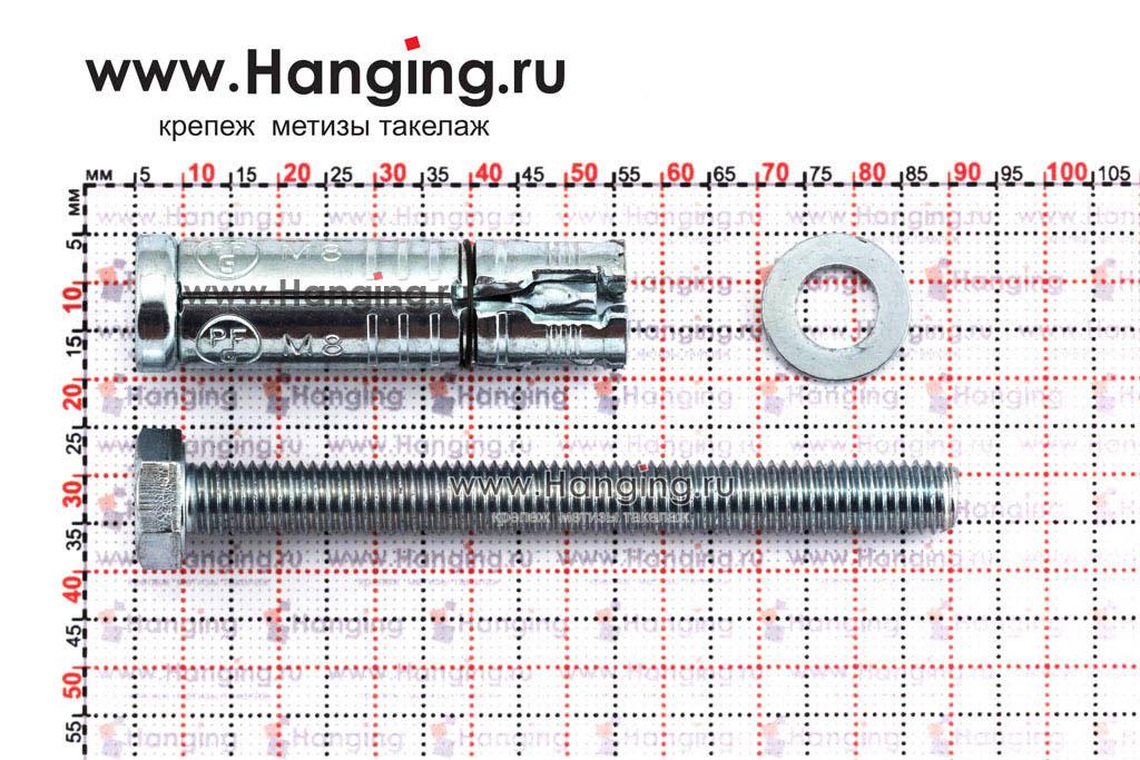 Составные части анкера М8х93 Sormat LB