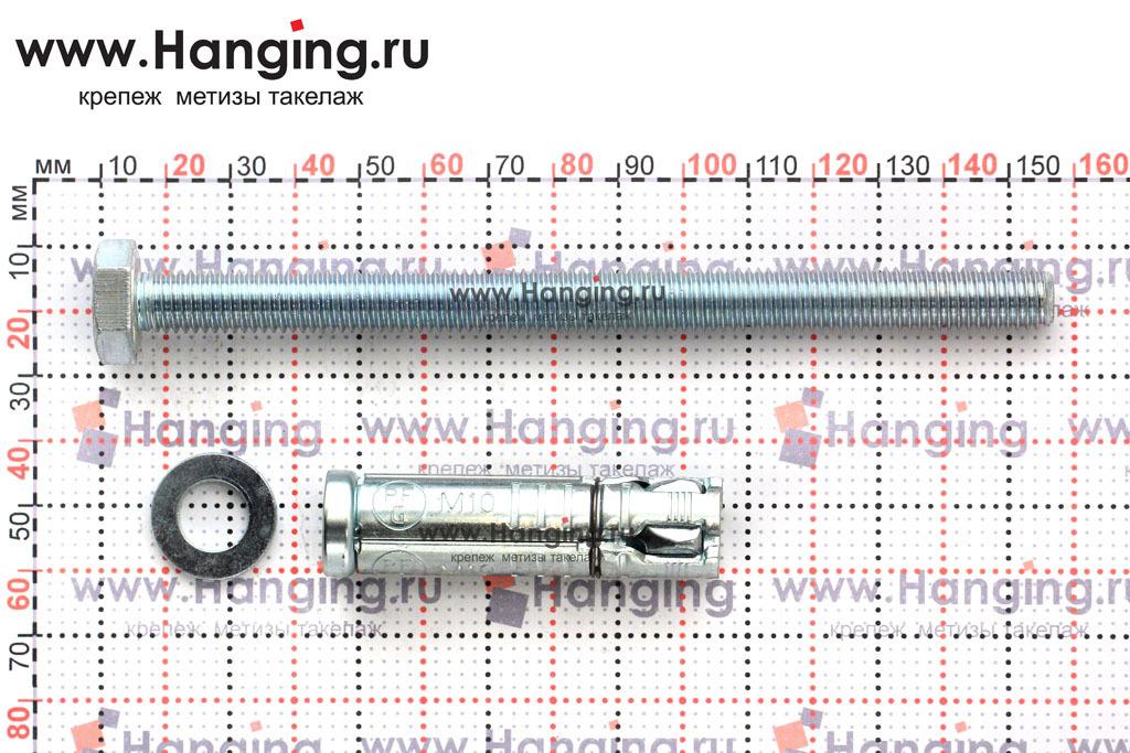 Составные части и размеры анкера М10х156 Sormat LB
