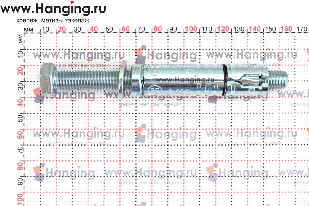 Размеры анкерной гильзы Сормат LB М12*145/50