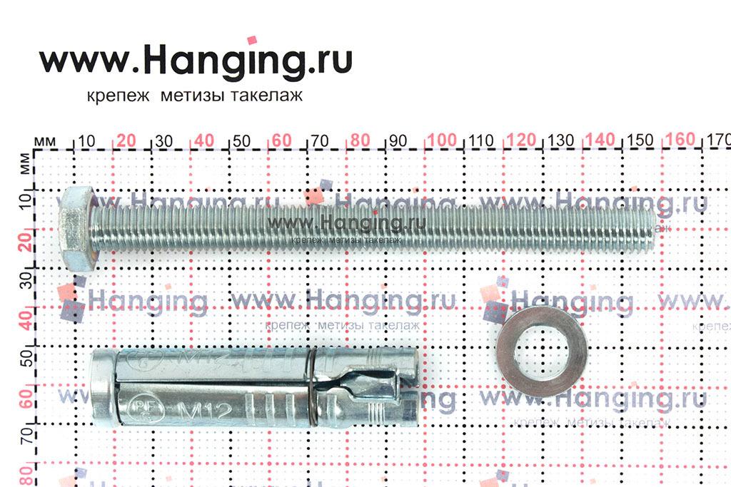 Составные части анкера М12х165 Sormat LB