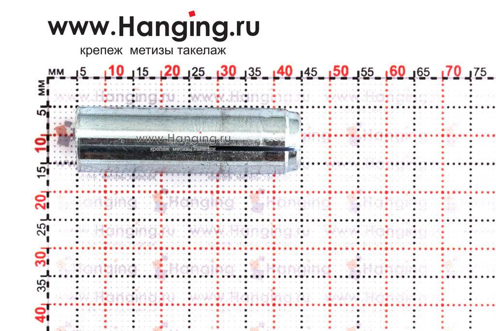Размеры универсального забивного анкера под болт, винт, шпильку М10