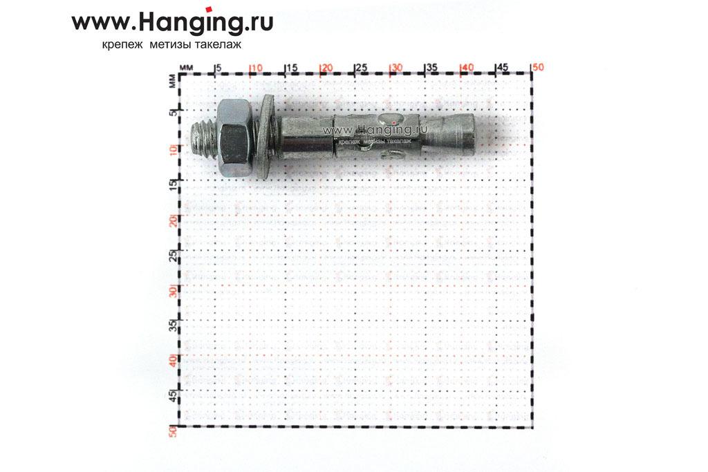 Размеры анкеров оцинкованных клиновых М6x40