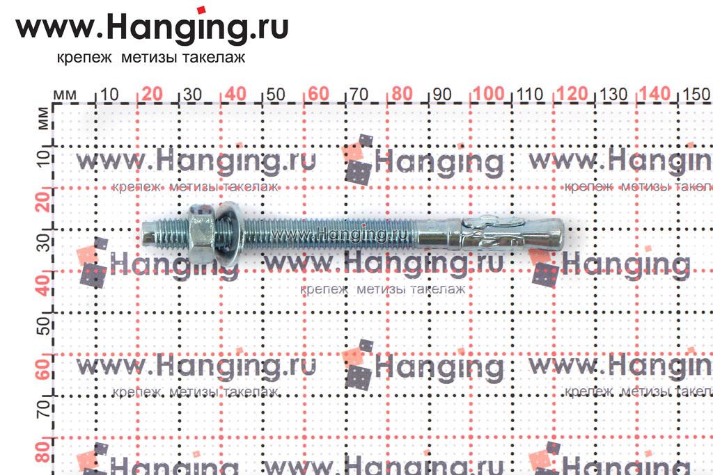 Размеры анкеров оцинкованных клиновых М8x100