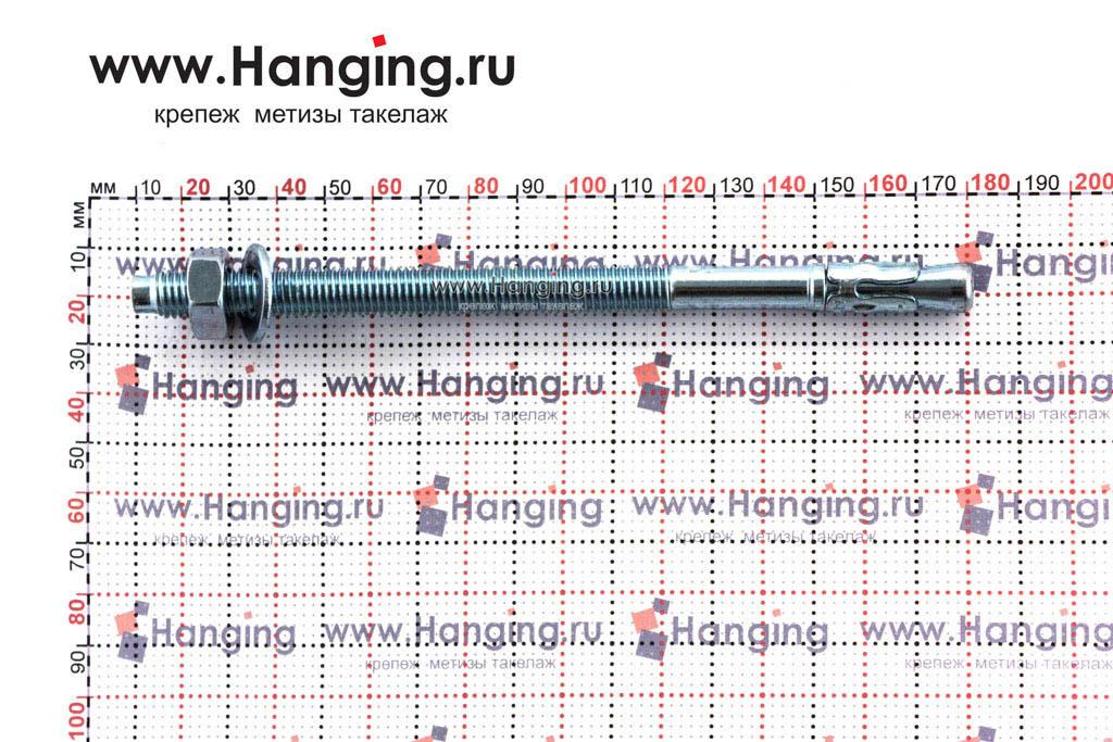 Размеры анкеров оцинкованных клиновых М10x170