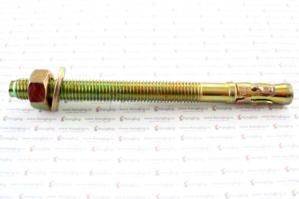 Клиновой анкер 12х150, желтый цинк, Letfix