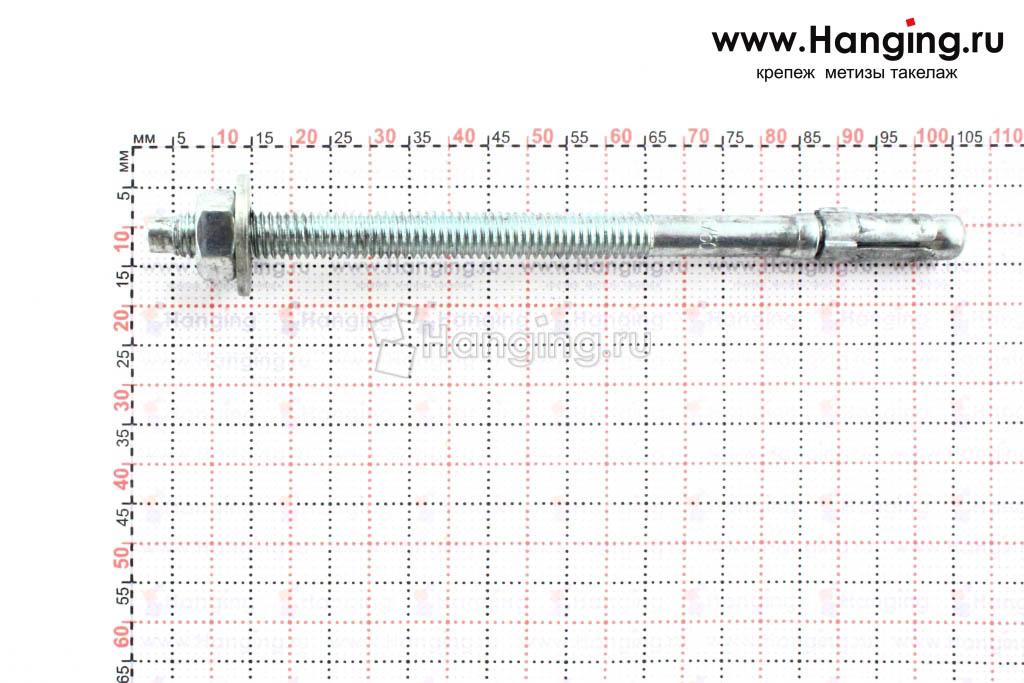 Размеры анкера М6х100 для кирпича и бетона Sormat S-KA