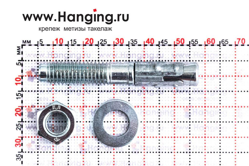Размеры анкера М8*52 для кирпича и бетона Sormat S-KA