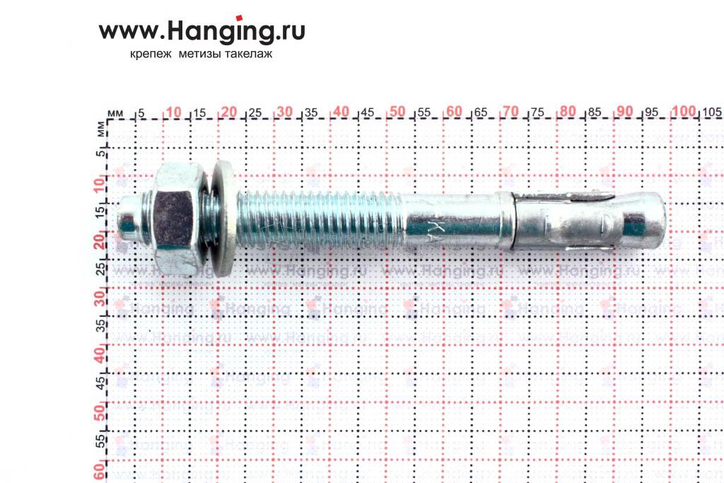 Размеры анкера М10х92 для кирпича и бетона Sormat S-KA