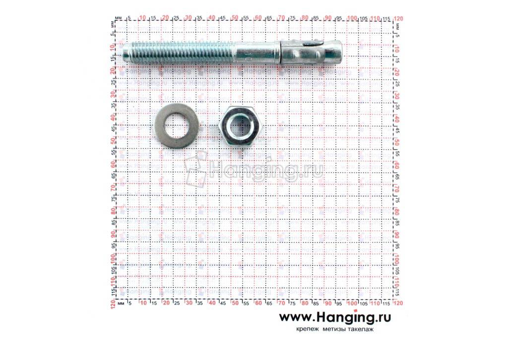 Составные части анкера клинового 10*92 Sormat S-KA