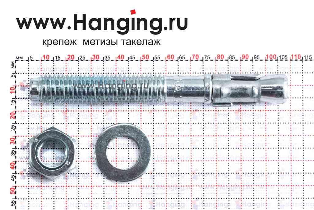 Размеры анкера М12х103 для кирпича и бетона Sormat S-KA