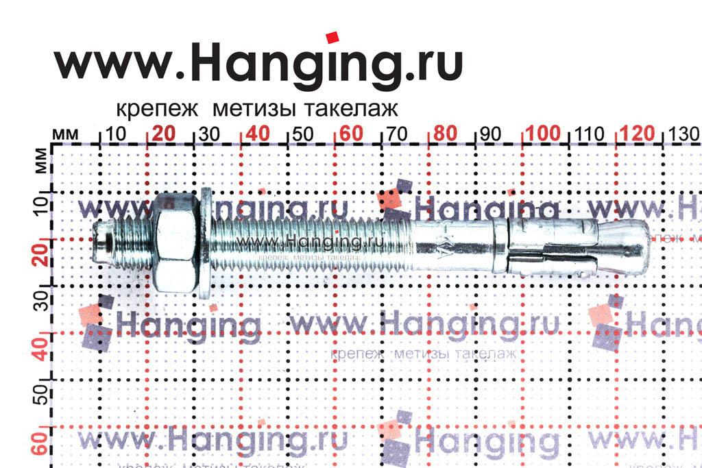 Размеры анкера М12х118 для кирпича и бетона Sormat S-KA