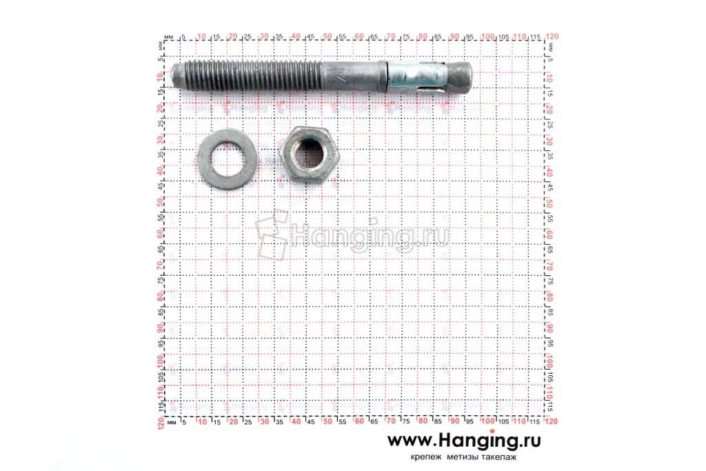 Составные части клинового анкера Сормат S-KAK М10х92
