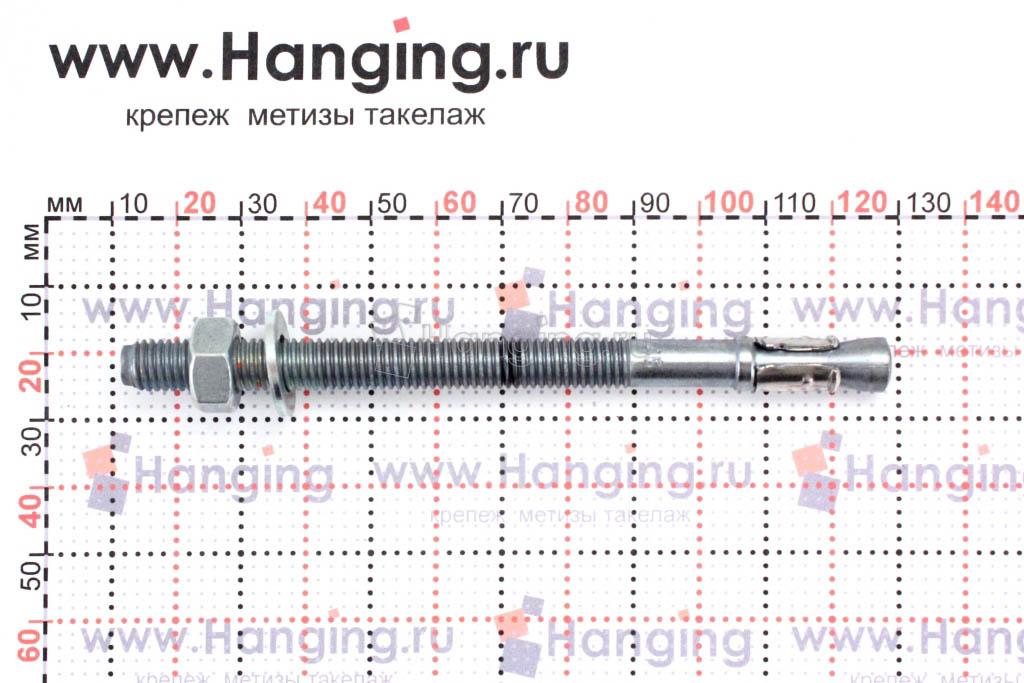 Анкер для перил и ограждений m2 М8х115, размеры