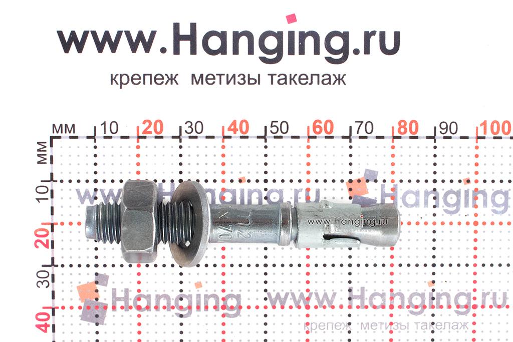Анкер для перил и ограждений m2 М10х70, размеры