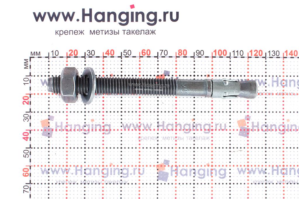 Анкер для перил и ограждений m2 М10х110, размеры