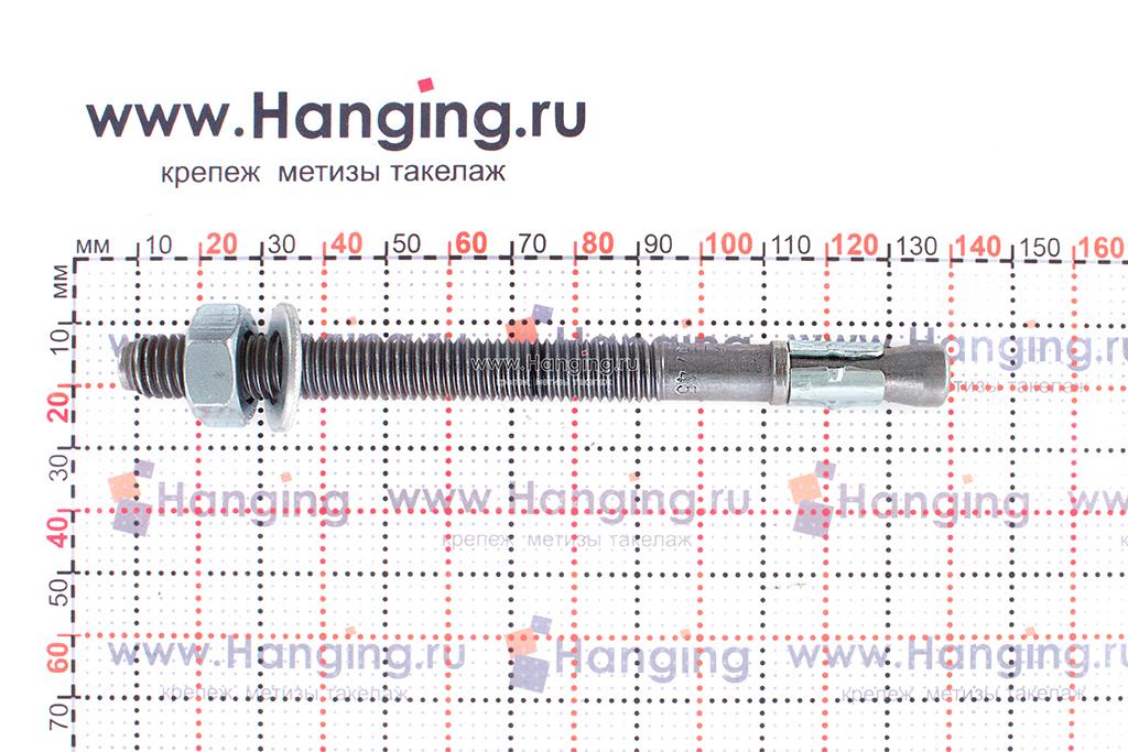 Анкер для перил и ограждений m2 М10х125, размеры
