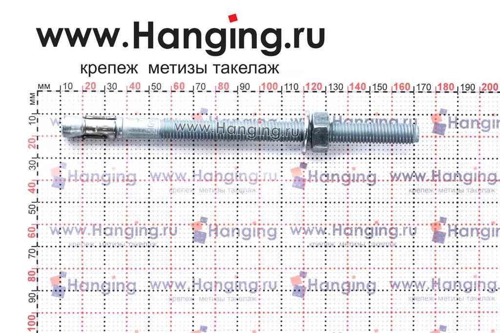 Анкер для перил и ограждений m2 М10х160, размеры