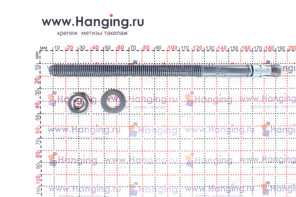 Анкер для перил и ограждений m2 М10х180, размеры