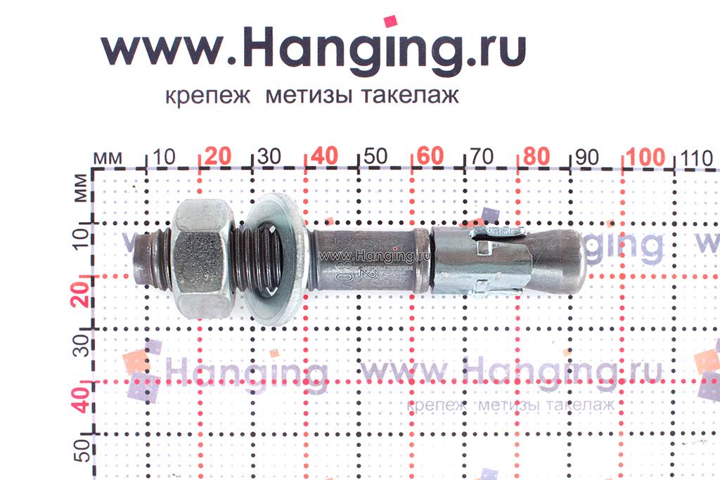 Анкер для перил и ограждений m2 М12х80, размеры