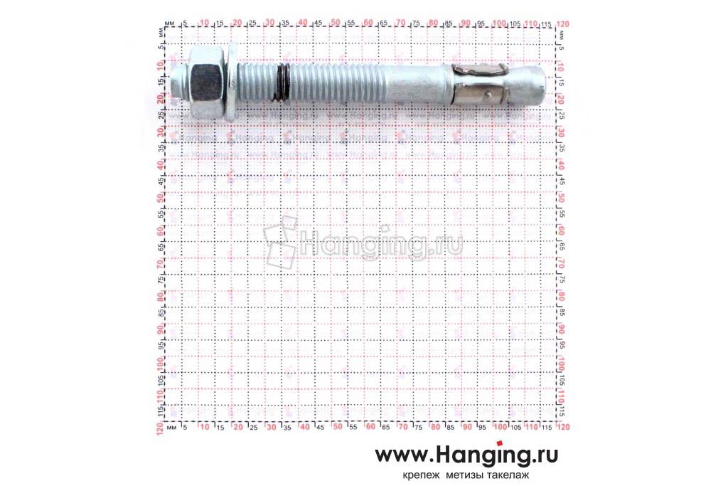 Анкер для перил и ограждений m2 М12х110, размеры