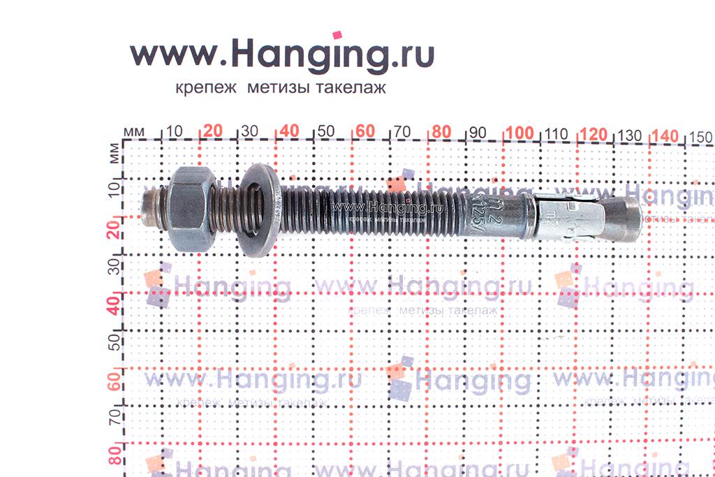 Анкер для перил и ограждений m2 М12х125, размеры