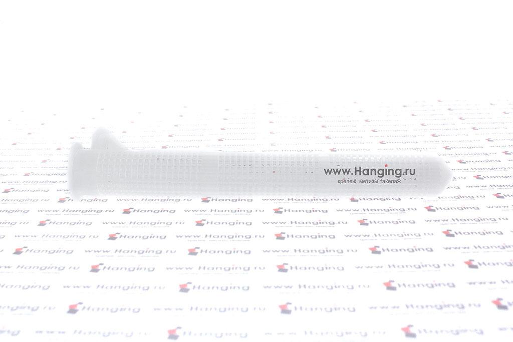 Сетчатая пластмассовая гильза (втулка) для резьбы М8 и М10 Sormat IOV 16х135