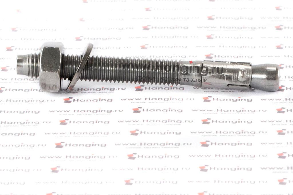 Анкер клиновой из нержавеющей стали А4 М10x100 (316, AISI 316 L, сталь марки 08Х17Н13М2Т)