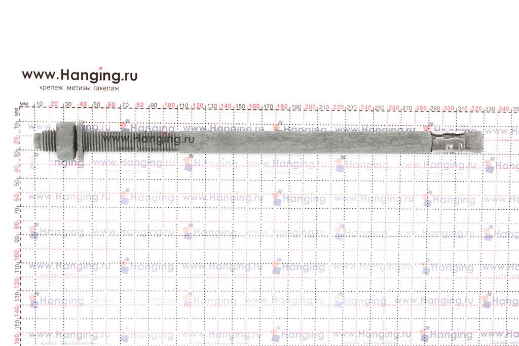 Размеры анкера клинового горячеоцинкованного М16х315