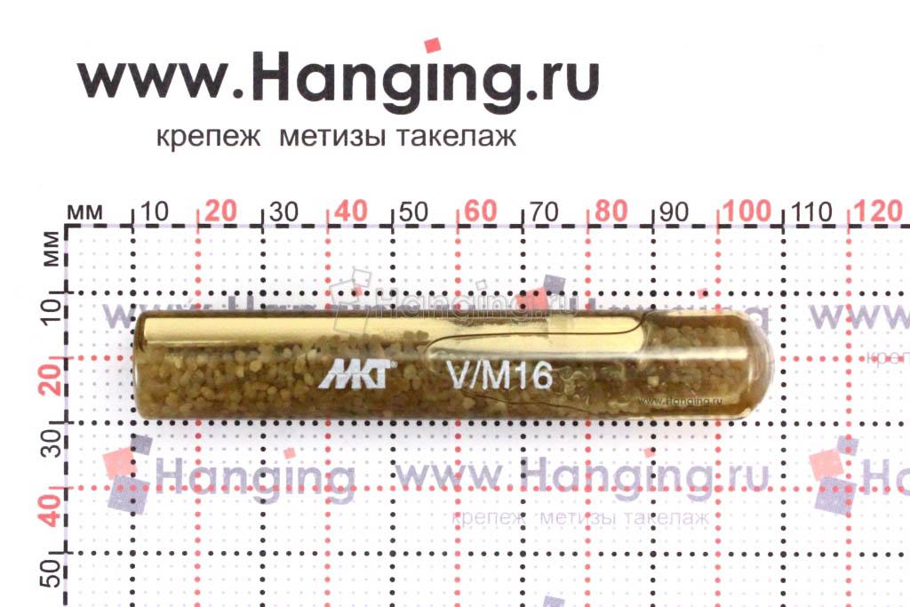 Размеры ампулы MKT V-P М16 16*100