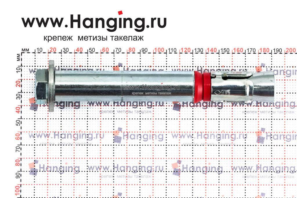 Размеры высокопрочного анкера М16/24х180, SZ-S MKT
